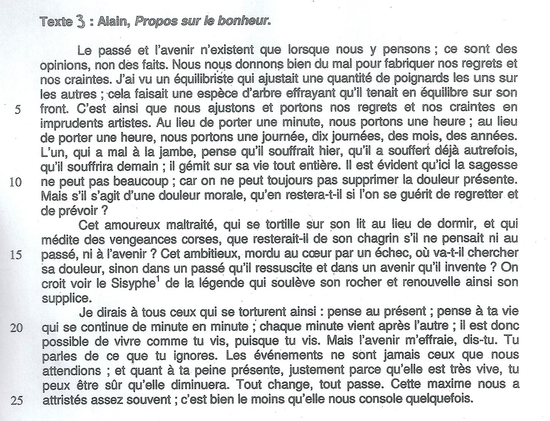 Texte Sur le Bonheur Alain Propos Sur le Bonheur