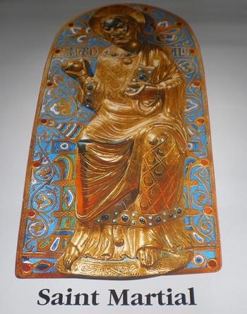 Emaljert plakett som viser Martial (1225-30), Museo nazionale del Bargello i Firenze