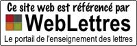 Site référencé par WebLettres