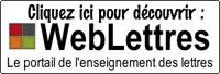 Cliquez ici pour découvrir WebLettres